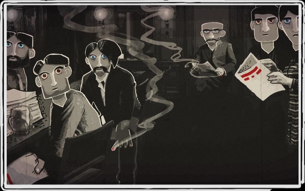 Ein Bild aus dem Spiel. Das Backroom